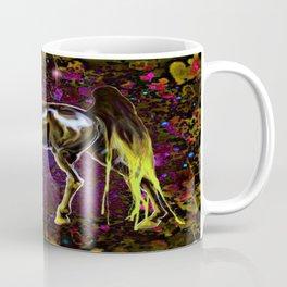 Yellow Love Horse Coffee Mug