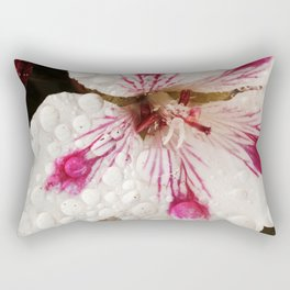 Flowers in the Summer Rain Rectangular Pillow