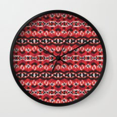 Montana Stripe - Cherry Wall Clock