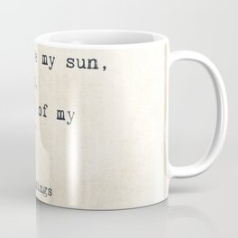 EE Cummings, Sun Moon Stars Quote, Love Coffee Mug