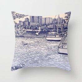 Charles River Esplanade Throw Pillow