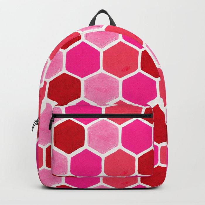 Hexagon Honeycomb Pattern – Valentine Palette Rucksack