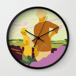 Yorkshire Moors hiking Wall Clock