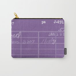 Library Card 797 Negative Purple Carry-All Pouch