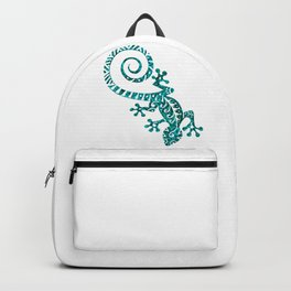 Hawaiian - Samoan - Polynesian Tribal Gecko Backpack