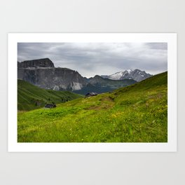 Alpine view (Italy) Art Print
