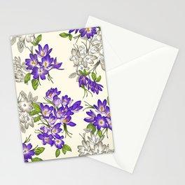 Purple Crocus Stationery Cards