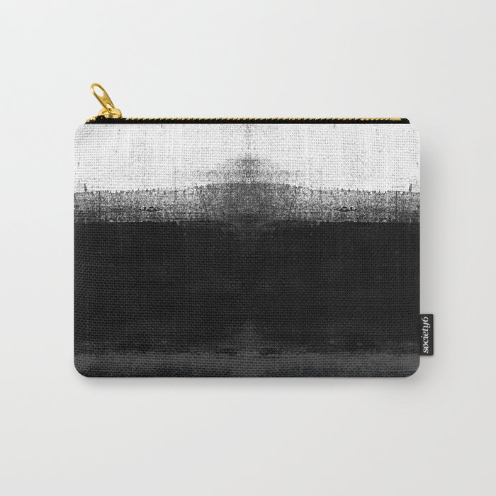 Ocean No. 2 - Minimal ocean abstract painting in black and white Carry-All Pouch