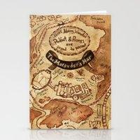 marauders Stationery Cards featuring Marauders Map by Dasha Borisenko