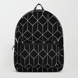 Hexagonal Black and White Backpack