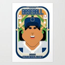 Baseball Blue Pinstripes - Deuce Crackerjack - Indie version Art Print