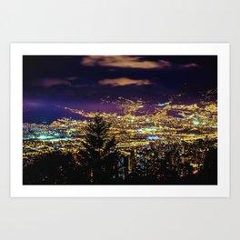 Medellin Night Moves Art Print