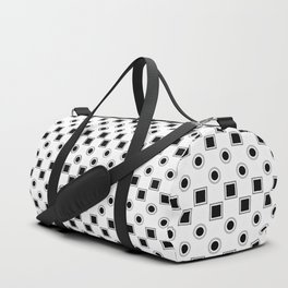 Circles and Squares Target - White Duffle Bag