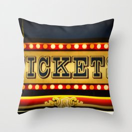 Tickets Throw Pillow