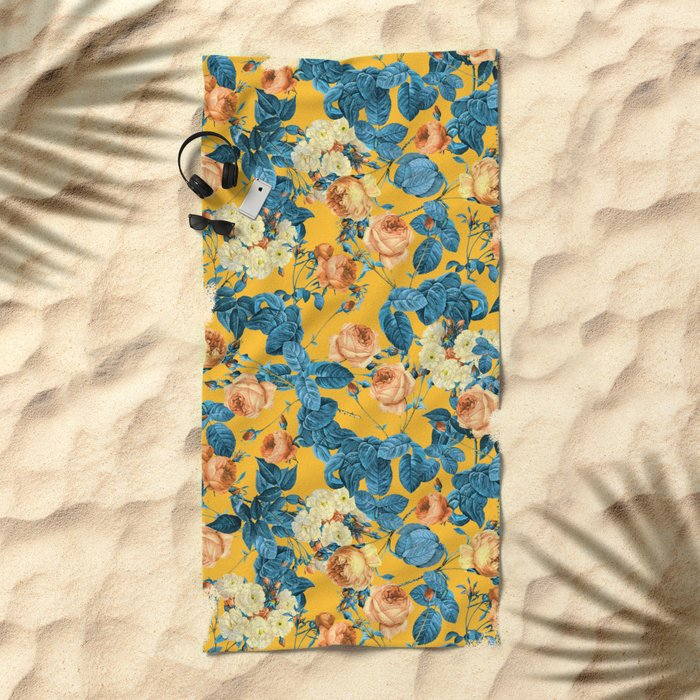 Summer Botanical II Beach Towel