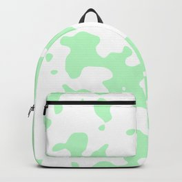 Large Spots - White and Light Green Backpack