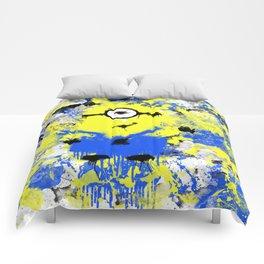 Splatter Painted Minion  Comforters