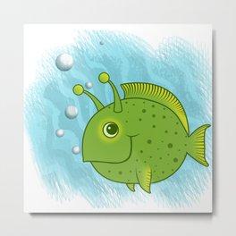 Alien Fish Metal Print