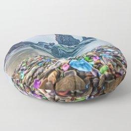 MacKerricher Bottle Sea Glass Beach, California Portrait Floor Pillow