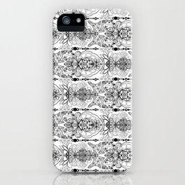 Fish Flower Outline Patterns iPhone Case