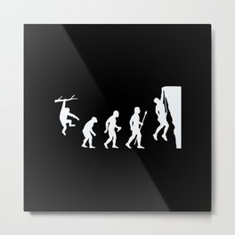 Climbing Evolution Metal Print