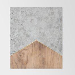 Concrete Arrow Wood #345 Throw Blanket