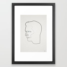 One Line Paul Newman Framed Art Print