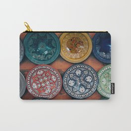 Arabic Moroccan Plates on Wall in Marrakech Carry-All Pouch