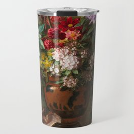 Georgius Jacobus Johannes van Os - Still life with flowers in a Greek vase - 1817 Travel Mug