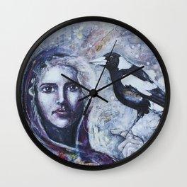 Sacred Messengers Whispering Wall Clock