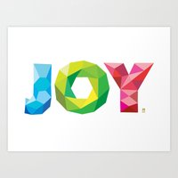 Multi-colored Joy Art Print