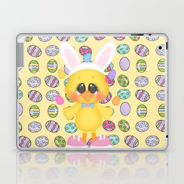 Easter Chick with Bunny Ears Laptop & iPad Skin