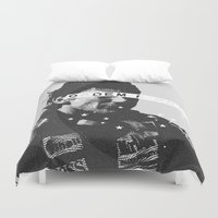 senna Duvet Covers featuring Senna 1 by Ricca Design Co.