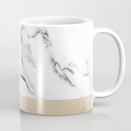 White Marble with Black and Copper Bronze Coffee Mug