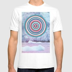 Warm Ice White Mens Fitted Tee MEDIUM