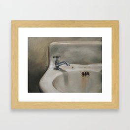 Corner sink 1 Framed Art Print