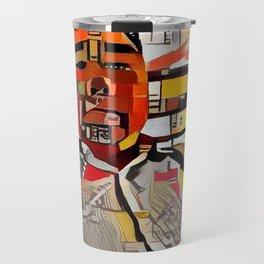 Abstract Self-Portrait Travel Mug