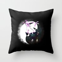 umbreon Throw Pillows featuring YIN YANG ESPEON AND UMBREON by Cursed Rose