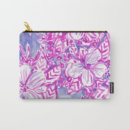 HIBISCUS FTW Tropical Pink Floral Carry-All Pouch