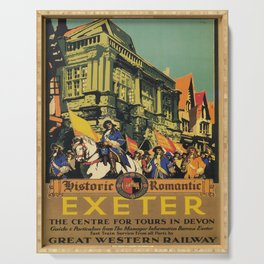 vintage placard Exeter Serving Tray