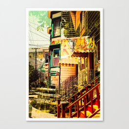 The Victorians' life in the Mission district - San Francisco Canvas Print