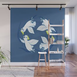 Cockatoo Angels (Blue) Wall Mural