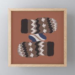 Bernie's Mittens - Terra Cotta Framed Mini Art Print