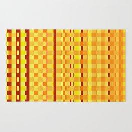 Checkered Red orange Design Rug