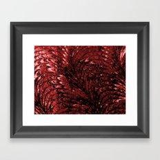 DARK RED Framed Art Print