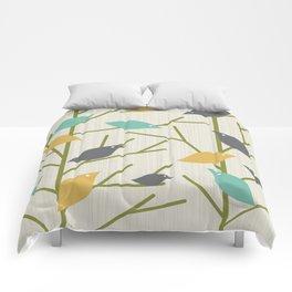 Mid Century Modern Birdsong Comforters