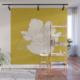 Outline Floral No. 1 Wall Mural