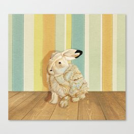 Arctic Hare In The Playroom Canvas Print
