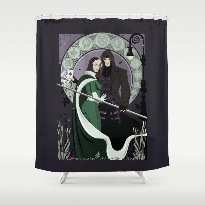 Rogue Remy Art Nouveau Shower Curtain