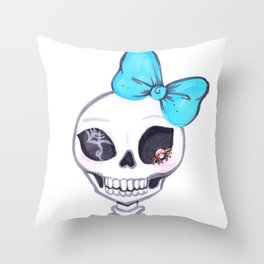 Shelly Skelly Throw Pillow